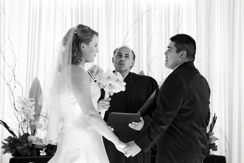 Bride and Groom's Vows at JW Marriott Cherry Creek Wedding Ceremony © Marni Mattner Photography