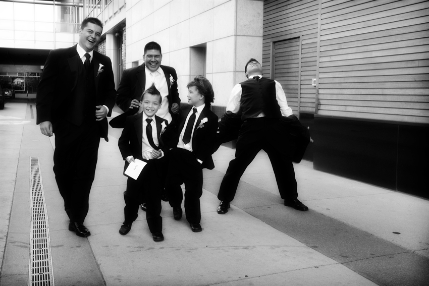 Groomsmen at JW Marriott After Wedding © Marni Mattner Photography