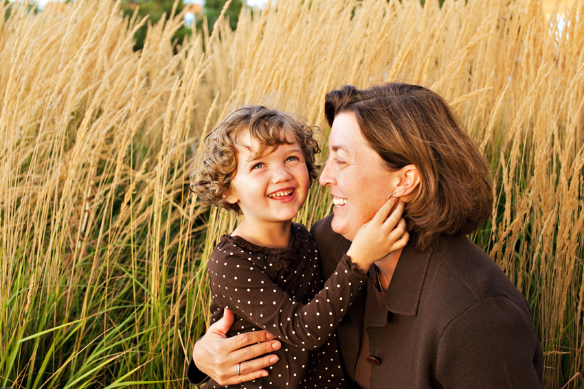 Family Portraits of Joelle and Kyra in Commons Park in Denver for Family Portraits © Marni Mattner Photography