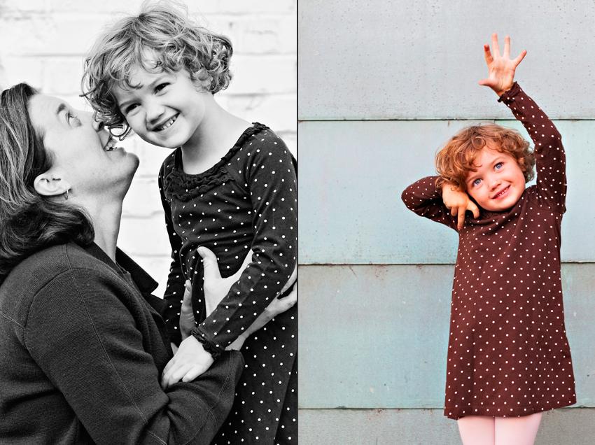 Kyra's Secret From Joelle in Denver's LoDo During Family Portraits © Marni Mattner Photography