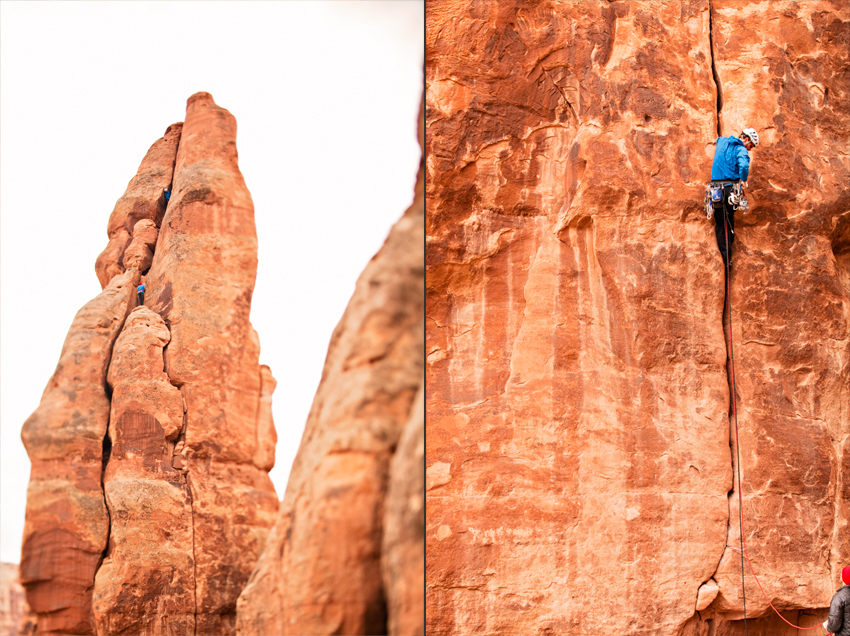 Rob and Jesse on Fast Draw (5.10c, 3 pitches), Photography © Marni Mattner