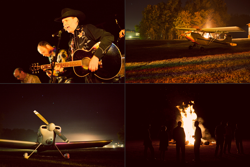 Honky Tonk Nashville Band, Vintage Airplanes and Bonfire © Marni Mattner Photography