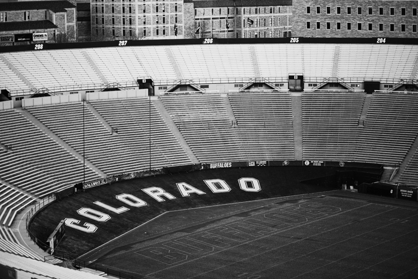 CU Buffs Stadium in Boulder, CO for Wedding Reception © Marni Mattner Photography