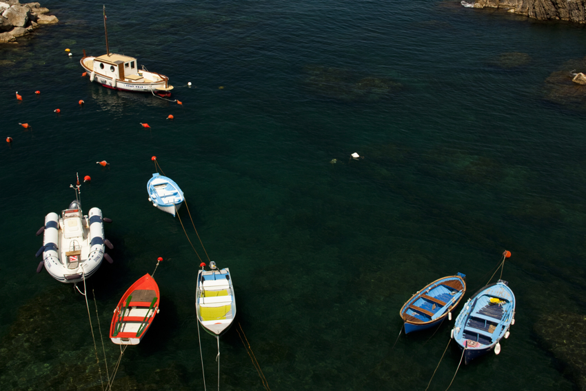 Boats of Cinque Terre in the Ligurian Sea by Marni Mattner Photography