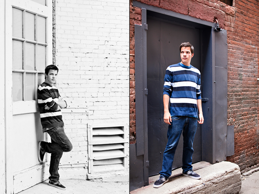 Kyle's Downtown Denver Senior Portraits  Marni Mattner Photography