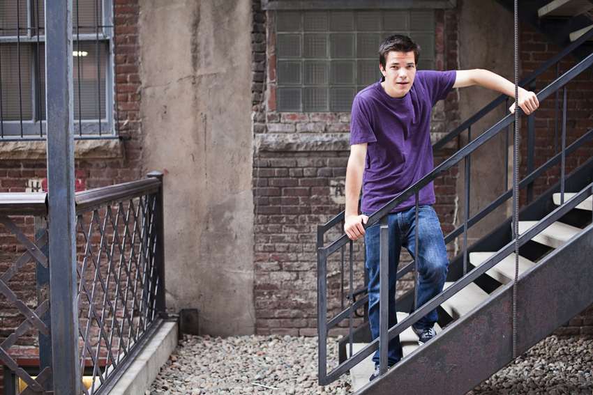 Guys Senior Portraits, Kyle in LoDo  Marni Mattner Photography