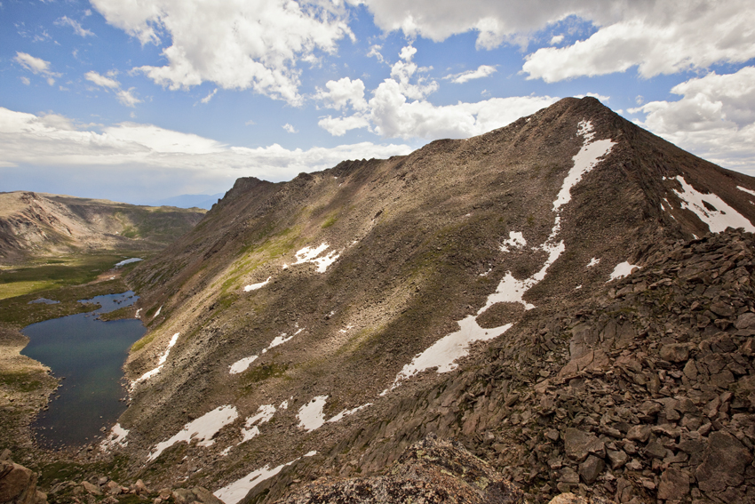 View of Mt. Bierstadt from the Sawtooth Ridge  Marni Mattner Photography