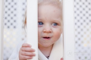 Curious Isabelle Peeking At Her Mom © Marni Mattner Photography