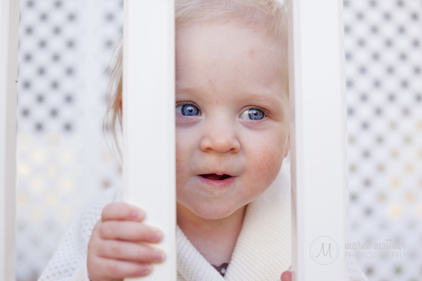 Curious Isabelle Peeking At Her Mom  Marni Mattner Photography