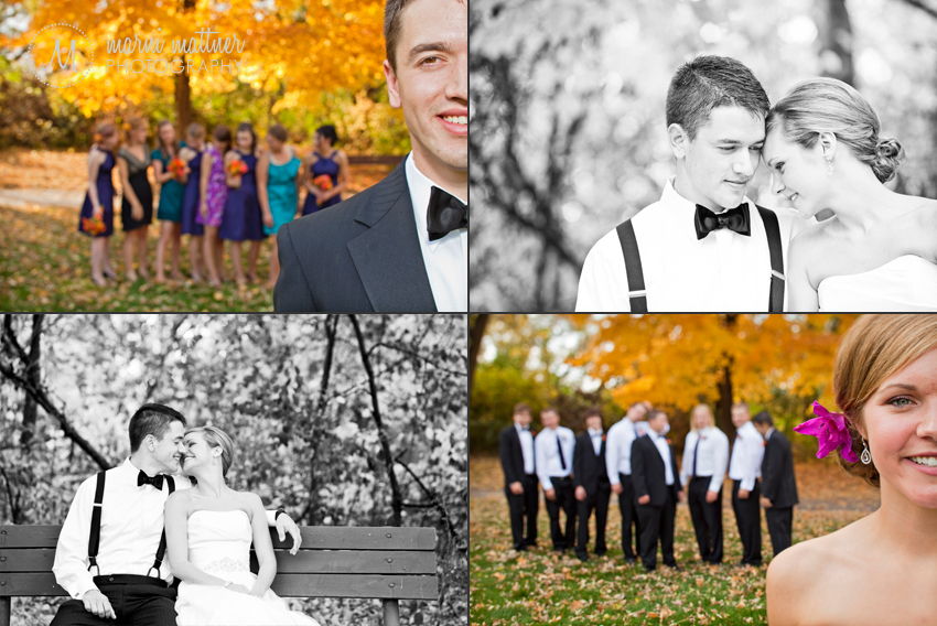 Autumn Cambridge, MN Wedding  Marni Mattner Photography