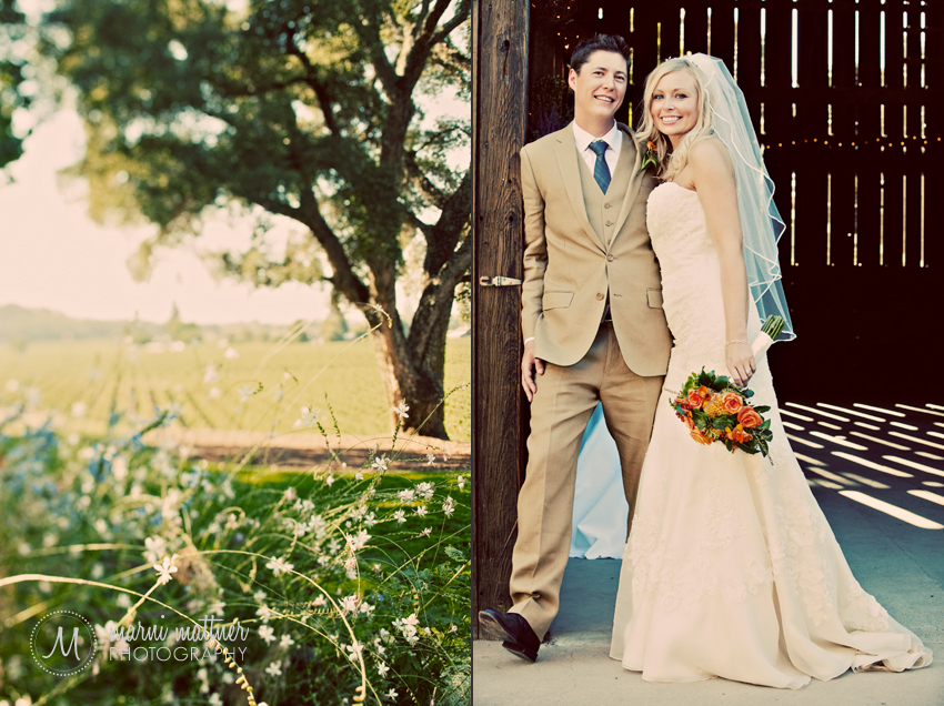 Ryan And Deirdra, Healdsburg, California Lone Tree and Barn  Marni Mattner Photography