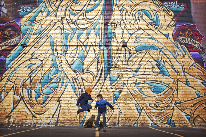 Grace and Jack Loved the Graffiti and Wall Art in Five Points © Marni Mattner Photography