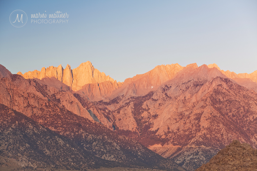 Mt. Whitney at Sunrise, 14,505 Feet © Marni Mattner Photography
