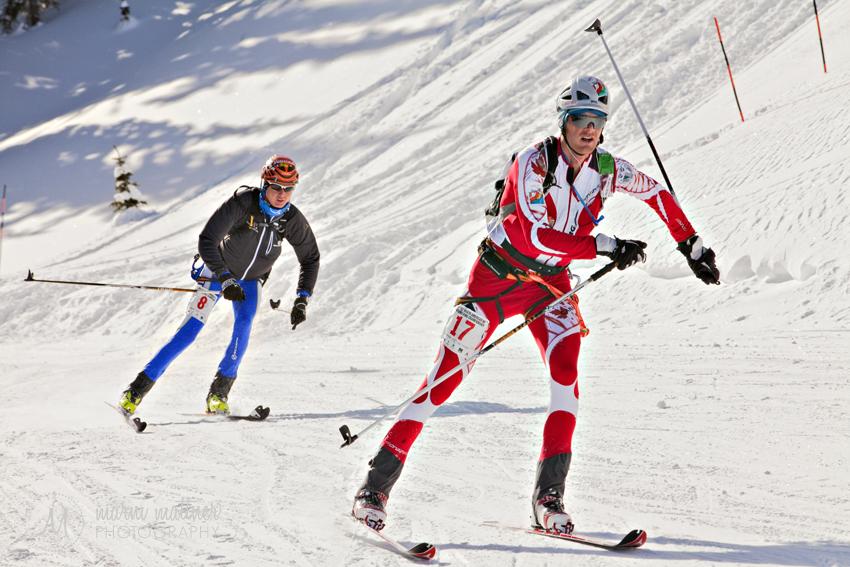 North American Ski Championship Racers Neck & Neck © Marni Mattner Photography