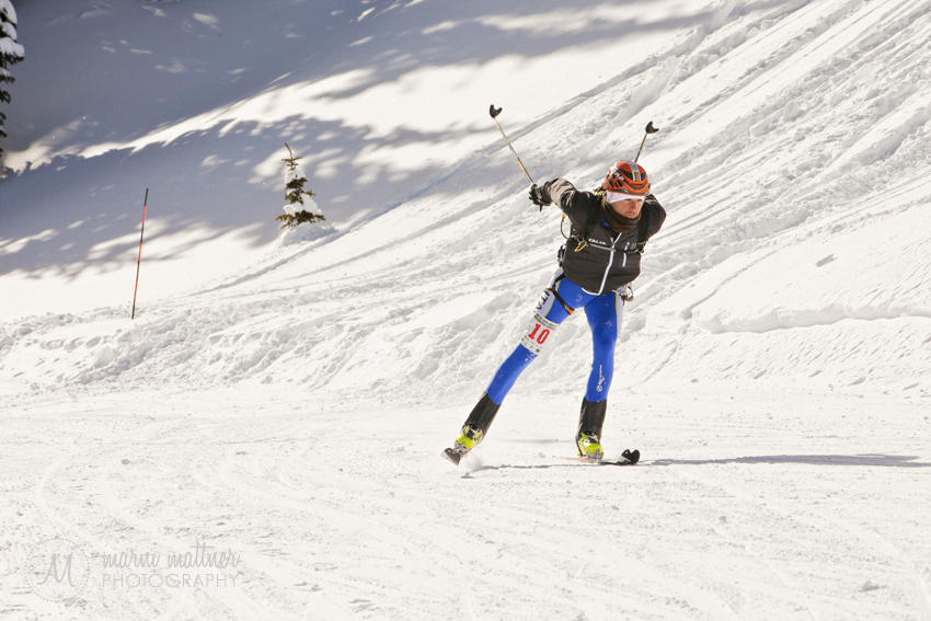 Randonee Skiing at the NA Ski Mountaineering Championships © Marni Mattner Photography