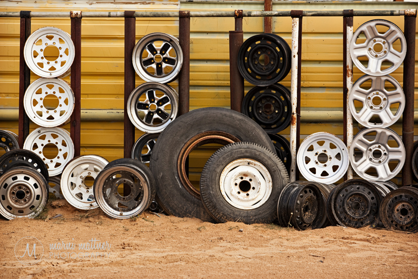 Tires Near the Mexican Border  Marni Mattner Photography