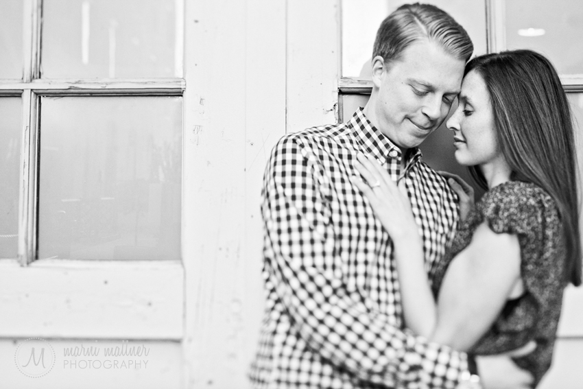 Steve and Andrea's LoDo Engagement Photos in Denver © Marni Mattner Photography
