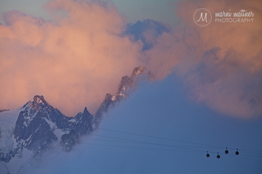 Sunset near Aiguille du Midi in France © Marni Mattner Photography