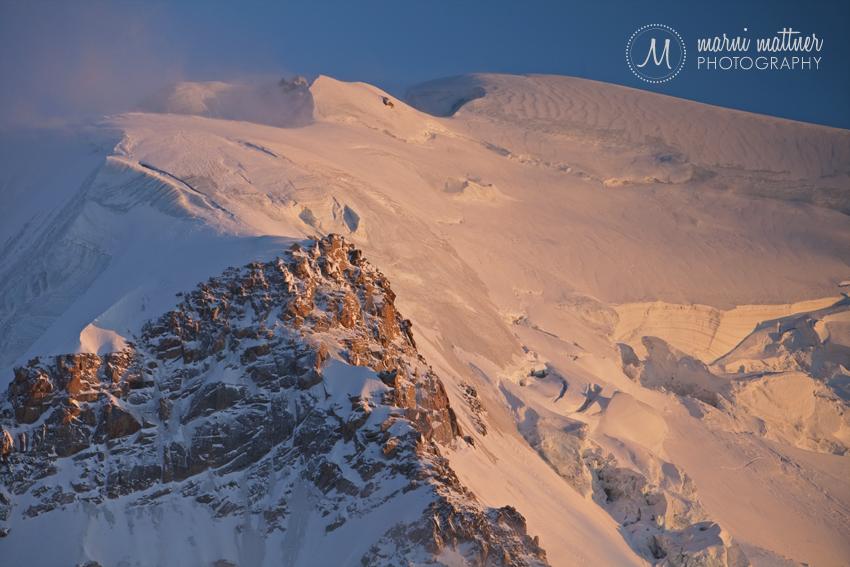 Mont Blanc, Chamomonix Ridgeline near Aiguille du Midi © Marni Mattner Photography