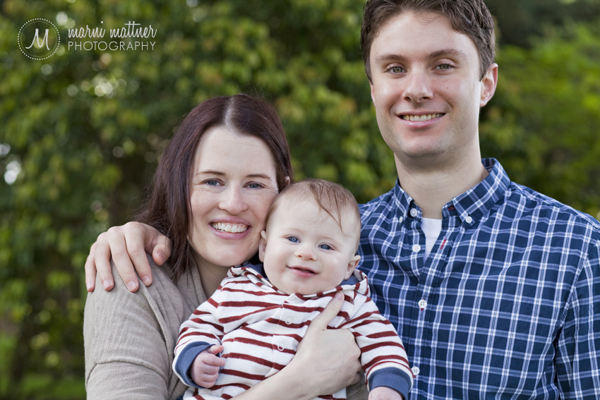Tony, Liz & Theo's Portland, OR Family Portraits © Marni Mattner Photography