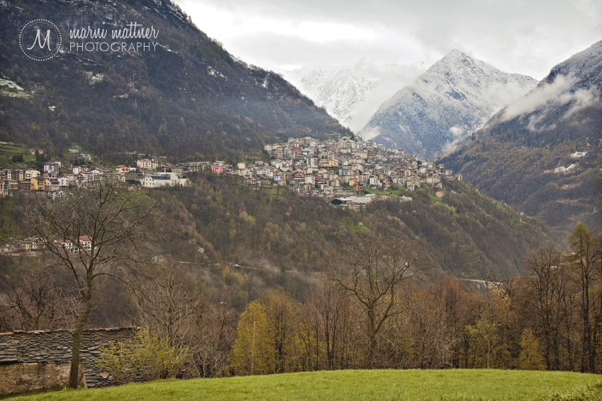 Italian Village of Premana, View From Down Valley  Marni Mattner Photography