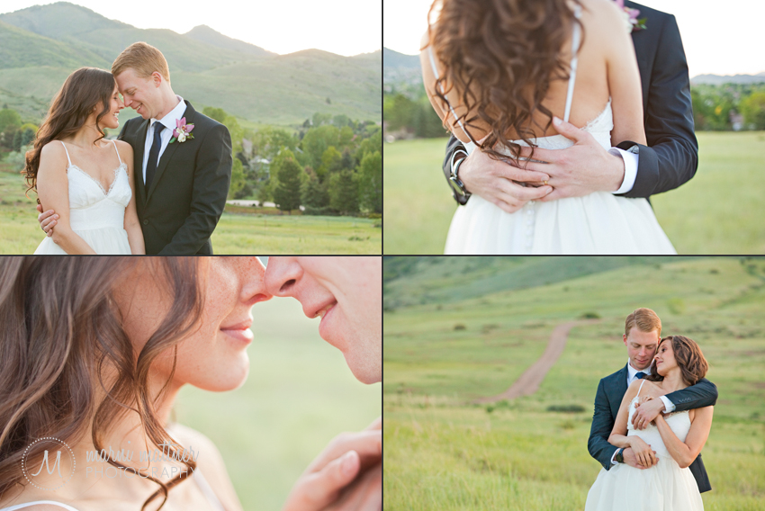 Bride and Groom near Colorado's Mountains by Littleton  Marni Mattner Photography