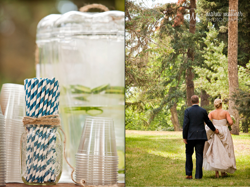 These old-timey straws were one of the best wedding details at Megan and Logan's Washington Park wedding  Marni Mattner Photography
