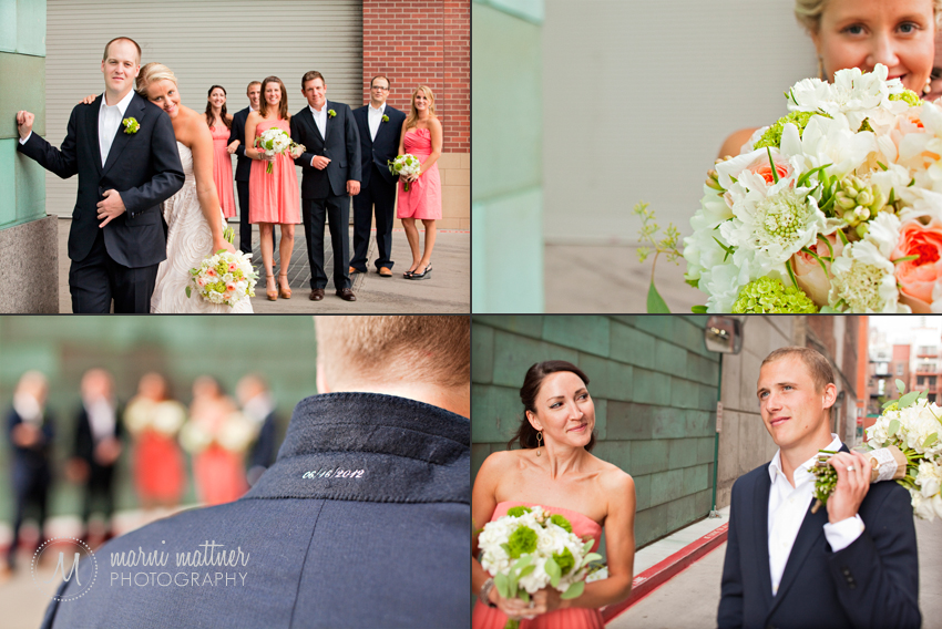 LoDo wedding photos in Downtown Denver  Marni Mattner Photography