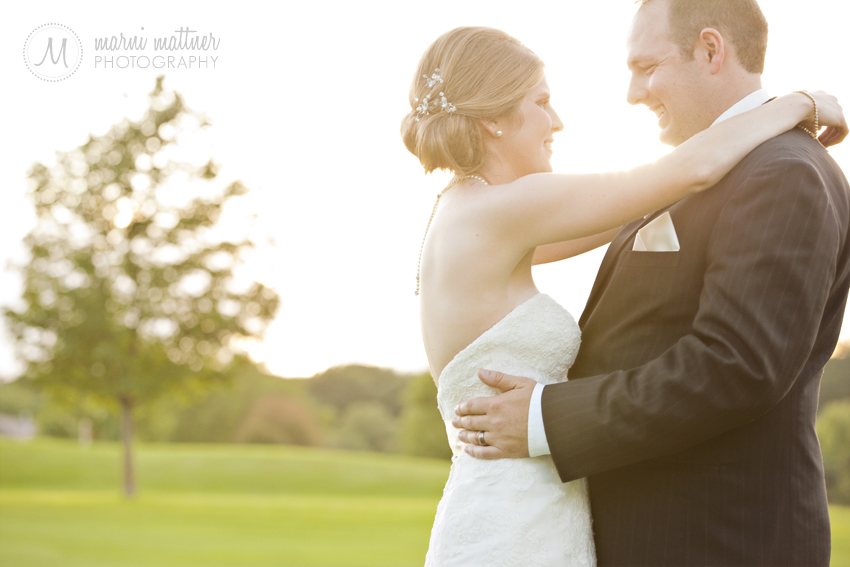 Prestwick Golf Course sunset wedding photos of Dave &amp; Liz  Marni Mattner Photography 