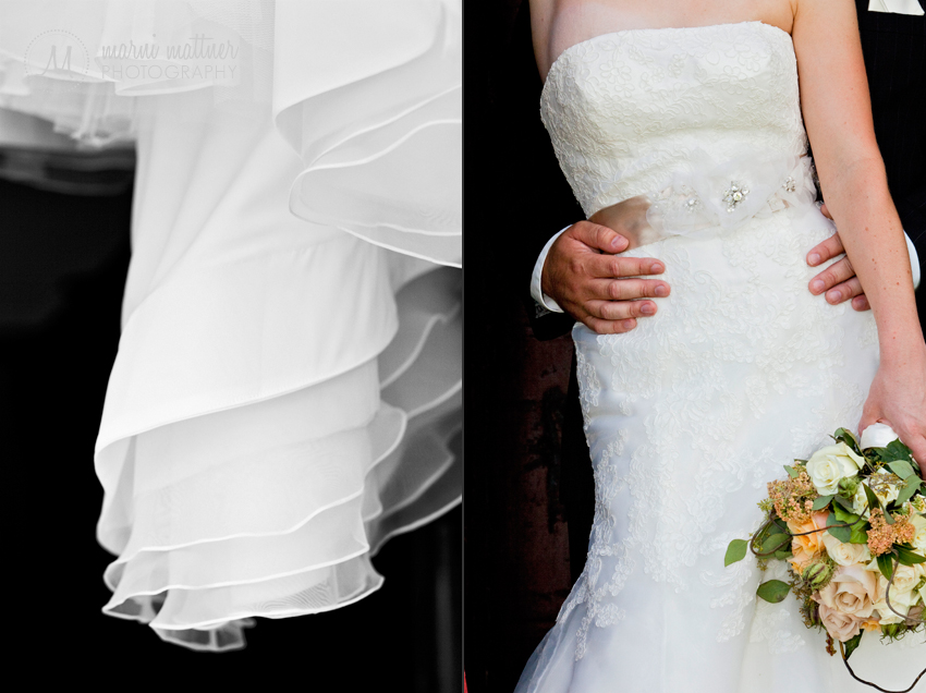 Liz's stunning Stillwater, MN wedding dress © Marni Mattner Photography