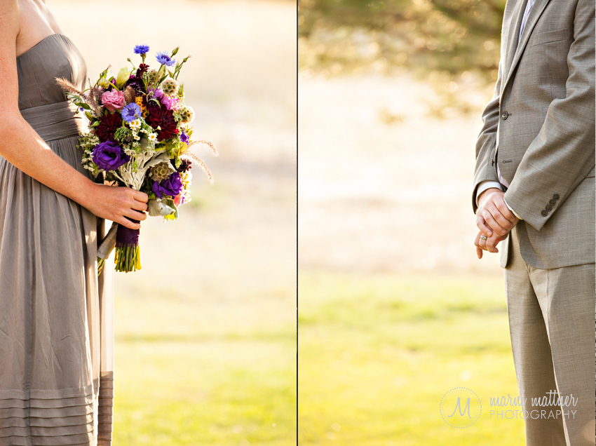 Maid of Honor and Best Man at Wedding Ceremony in Boulder, CO © Marni Mattner Photography