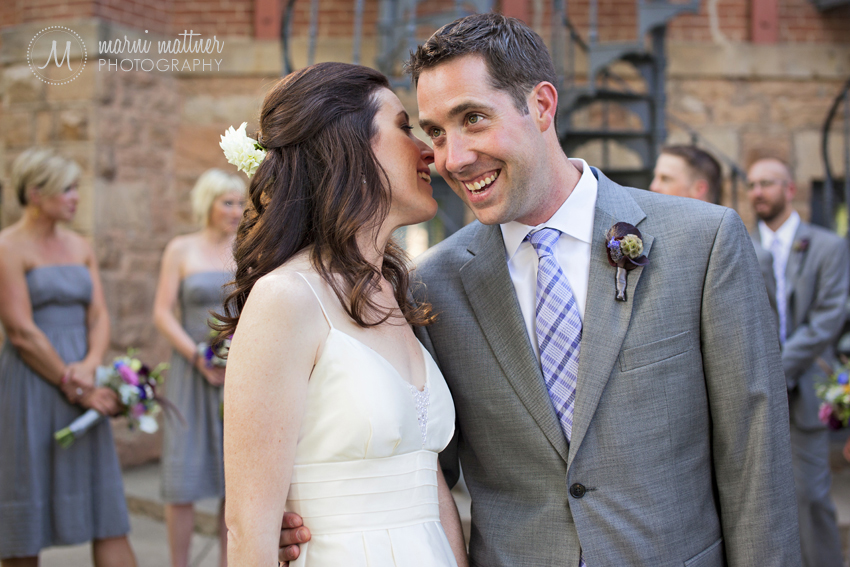 Christina and Patrick After Their First Look at CU Boulder © Marni Mattner Photography