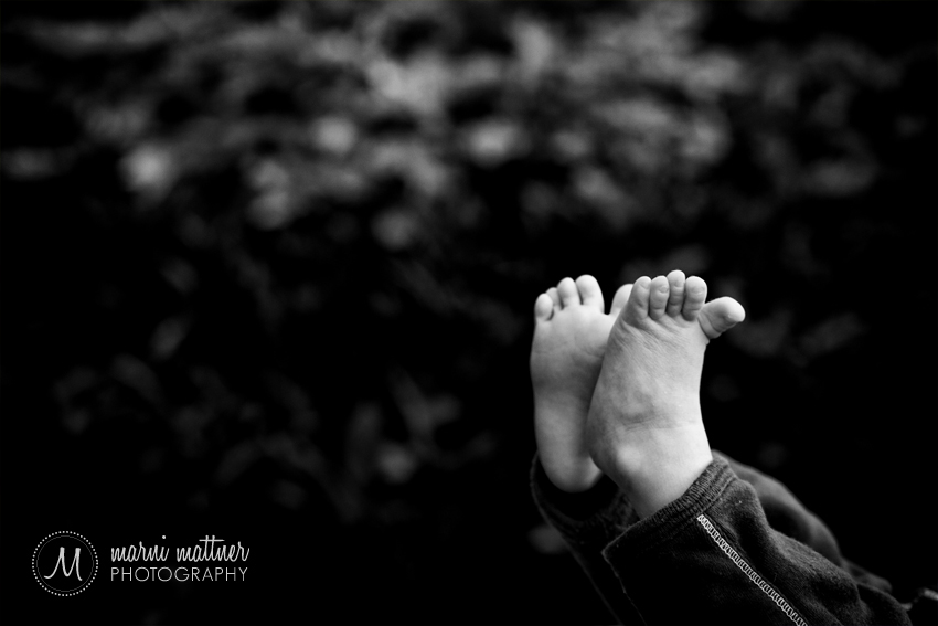 Newborn Benjamin's Toes At Denver, CO Infant Photography Session © Marni Mattner Photography