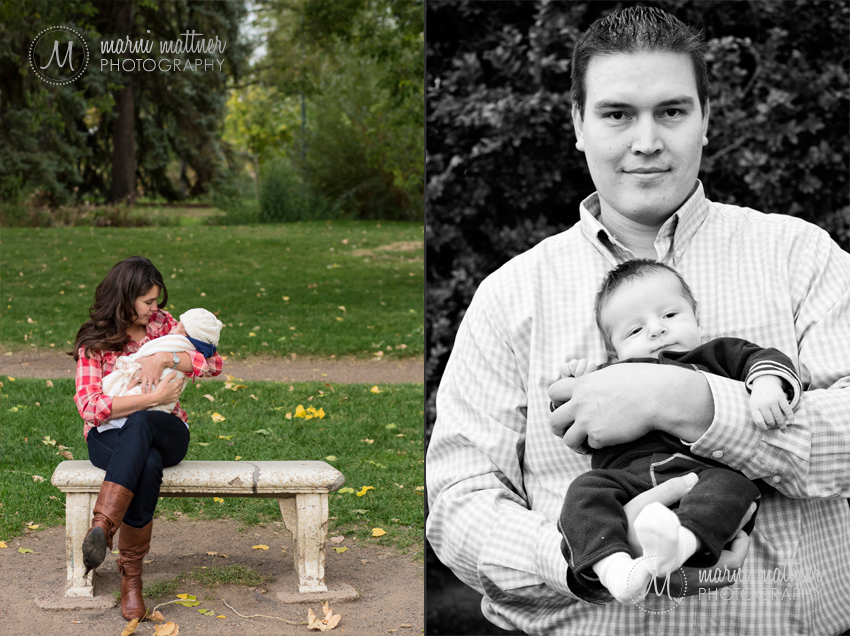 Baby Benjamin's First Photo Shoot with Mom & Dad Jen & Charlie © Marni Mattner Photography