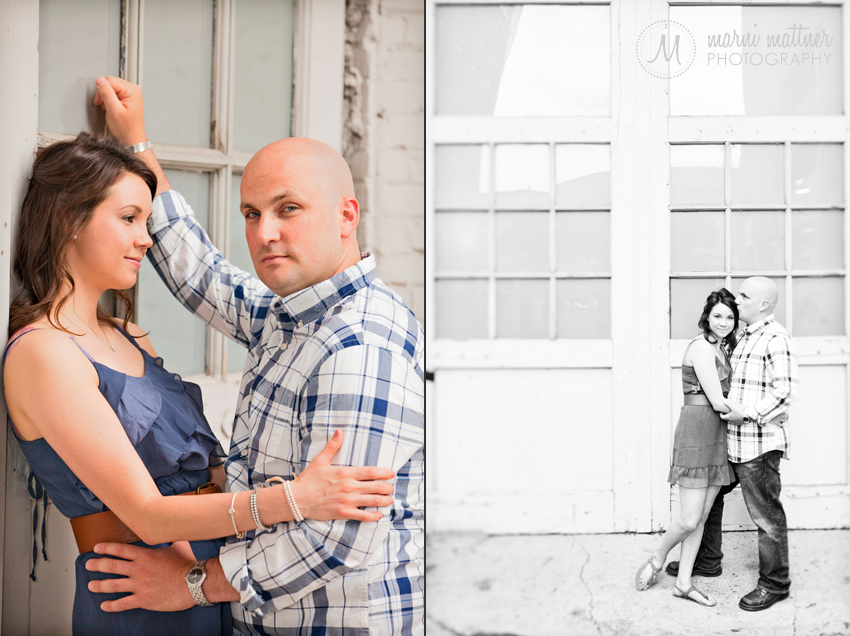 Jason & Megan's Downtown Denver Engagement Photos © Marni Mattner Photography