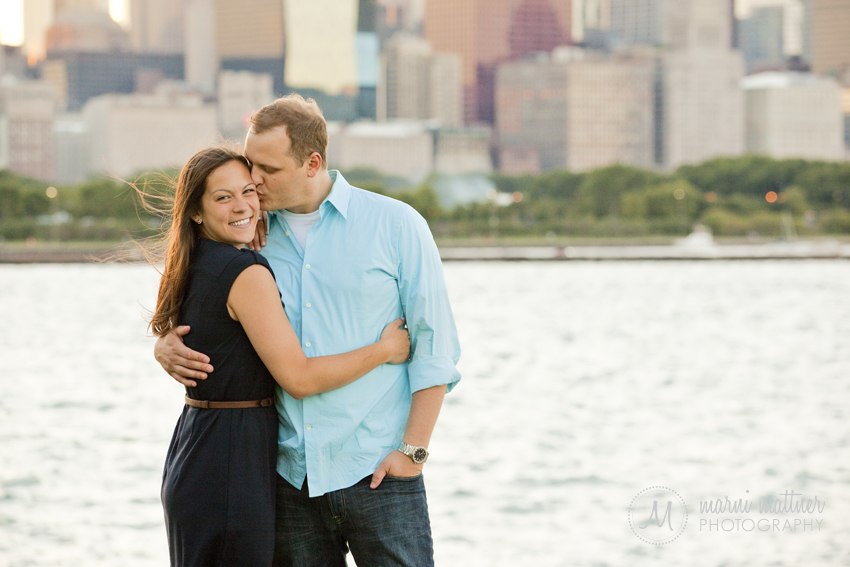Chicago, Illinois Engagement Photos of Jon &amp; Cheryl  Marni Mattner Photography