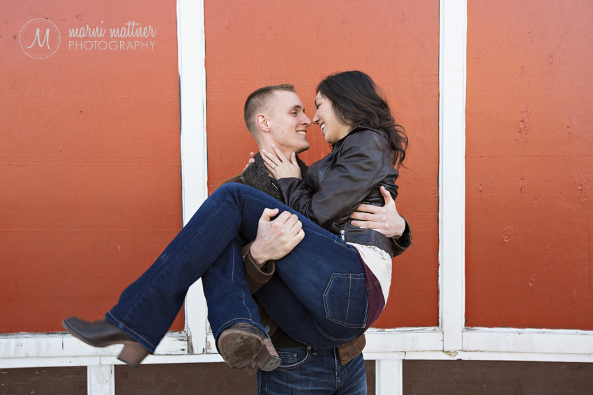 Monica &amp; Daren's RiNo Engagement Photo Shoot  Marni Mattner Photography