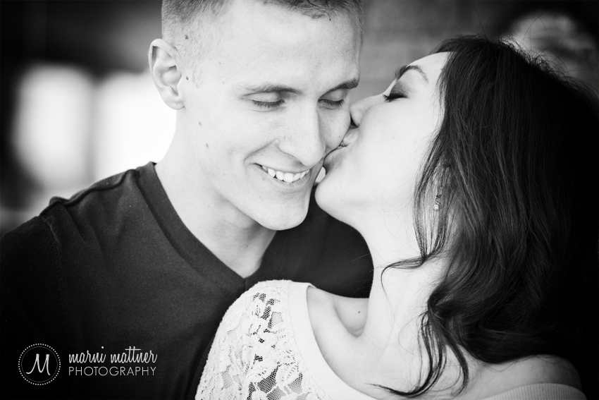 Another Sweet Moment From Monica & Daren © Marni Mattner Photography