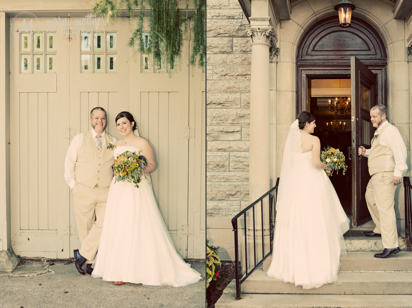 The bride and groom after their St. Paul College Club wedding