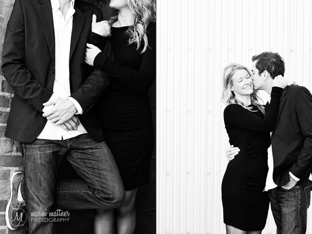 Nicole & Britton in love in downtown © Marni Mattner Photography