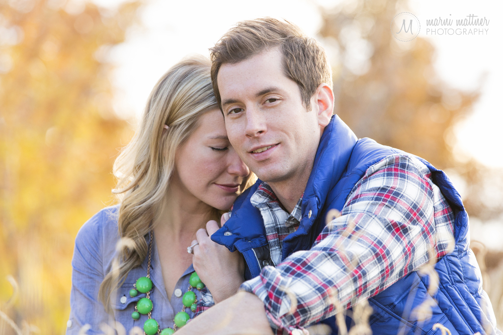 Nicole & Britton's Commons Park engagement photos in Denver, Colorado © Marni Mattner Photography