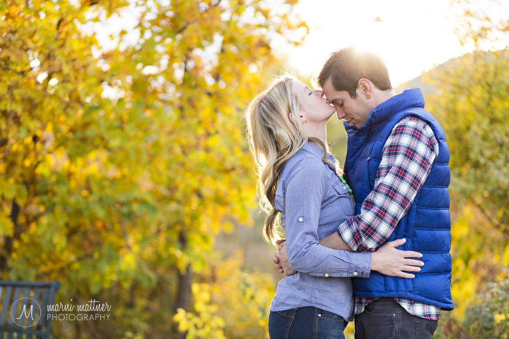 Nicole & Britton's engagement photos in Denver's Commons Park © Marni Mattner Photography