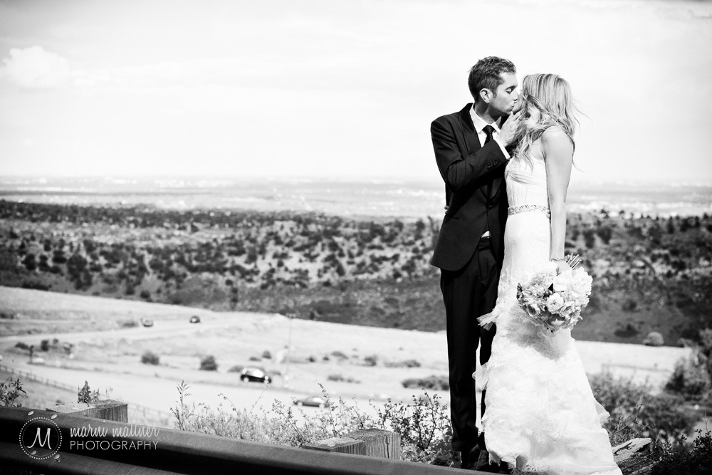Overlook of Denver at Red Rocks Park before the Trading Post wedding