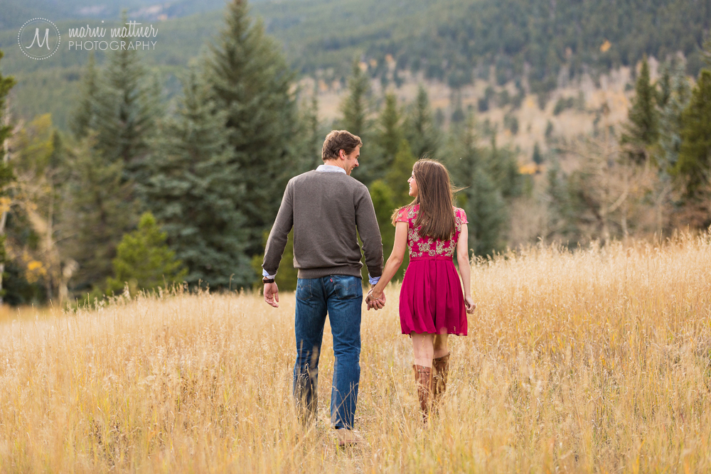 Blake & Jenny's Evergreen, CO engagement session