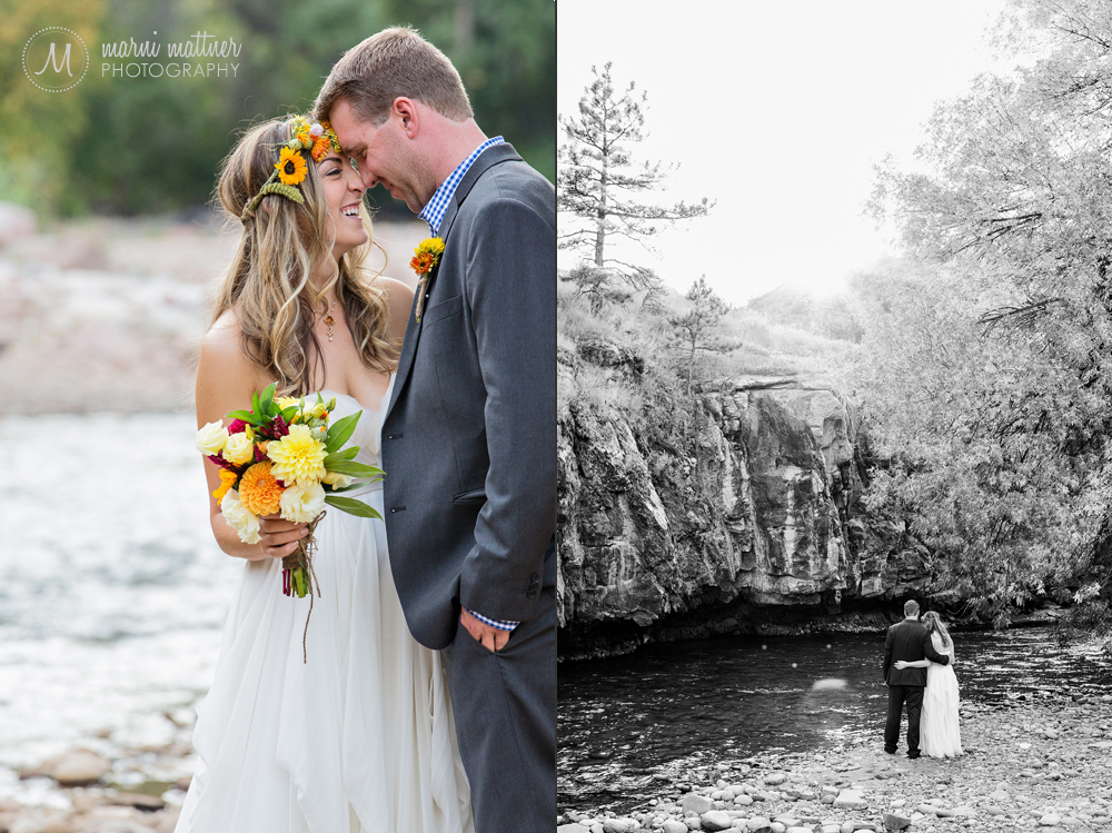 Lyons, Colorado Riverbend wedding photography