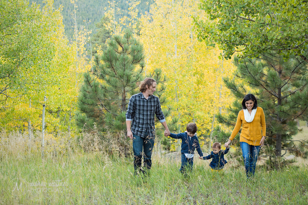 Evergreen, CO autumn family photos by Marni Mattner Photography