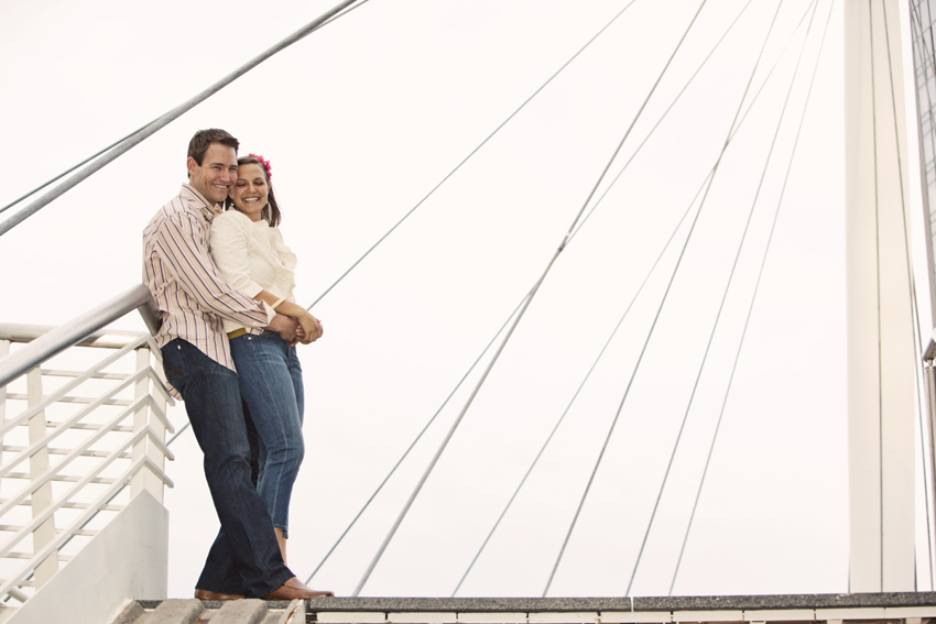 Dan & Chels Engagement Photography Millennium Bridge © Marni Mattner Photography