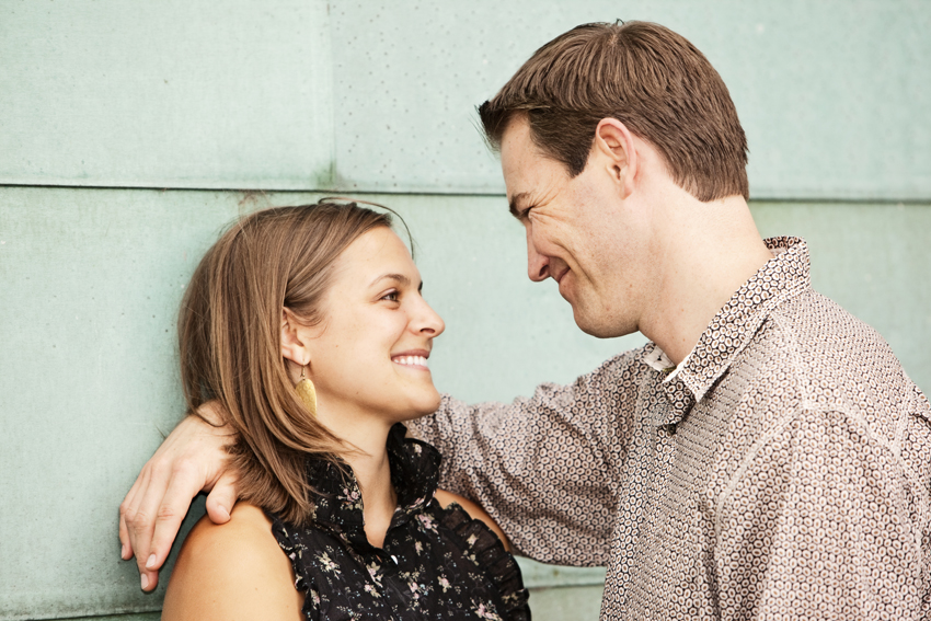 Dan & Chelsea Engagement Photography Downtown © Marni Mattner Photography
