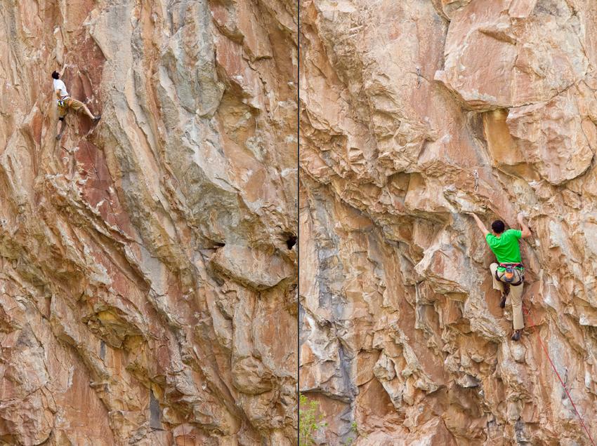 Climbing the Limestone Cliffs of Rifle, CO © Marni Mattner Photography