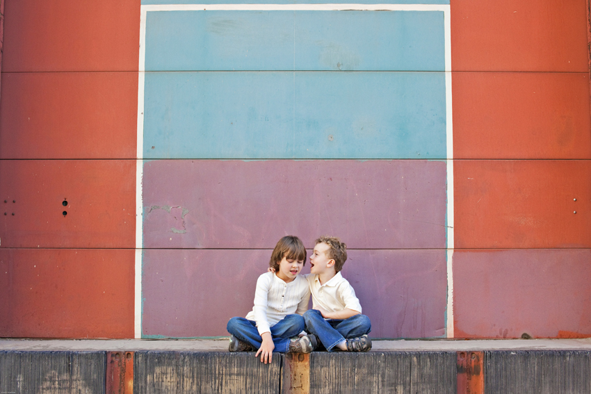 Jack and Grace Tell Secrets in Lodo, Denver © Marni Mattner Photography